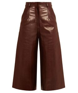 By. Bonnie Young | High-Rise Leather Culottes