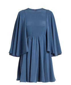 Valentino | Cape-Sleeve Silk-Georgette Dress