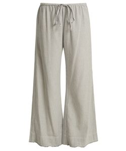 Velvet by Graham & Spencer | Esta Striped Cotton Trousers