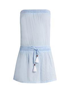 Heidi Klein   Corsica Strapless Cotton-Chambray Dress