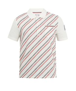 Moncler Gamme Bleu | Geometric-Embroidered Cotton Polo Shirt
