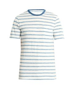 Faherty | Crew-Neck Striped-Cotton T-Shirt