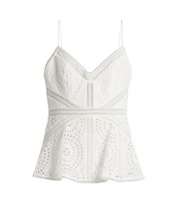 Zimmermann | Meridian Broderie-Anglaise Cotton Cami Top