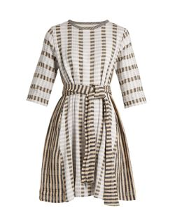 ACE & JIG | Margot Round-Neck Striped-Jacquard Cotton Dress