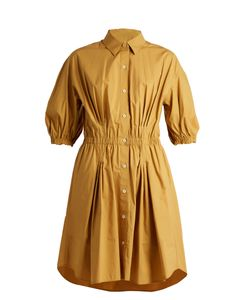 Sonia Rykiel | Curved-Hem Stretch Cotton-Poplin Shirtdress