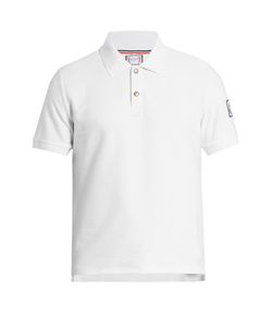 Moncler Gamme Bleu | Ribbed-Cotton Polo Shirt