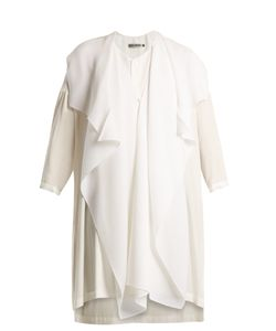 Issey Miyake | Pleated-Overlay Cotton Tunic Top