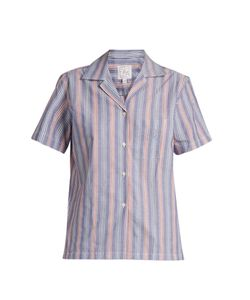 Stella Jean | Logica Striped Cotton-Poplin Shirt