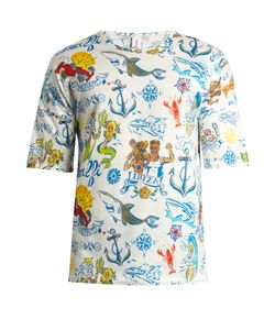 Robinson Les Bains   Lege Street Art-Print Cotton-Jersey T-Shirt