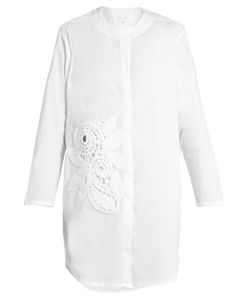 Lila Eugenie | 1751appliqué Cotton-Blend Shirt
