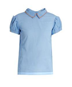 Jupe By Jackie   Saraste Point-Collar Cotton Shirt