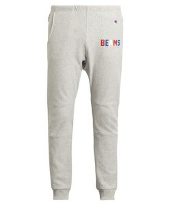 Champion x Beams | Logo-Printed Cotton-Blend Track Pants