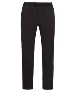 Tomas Maier   Drawstring-Waist Cotton-Blend Twill Trousers