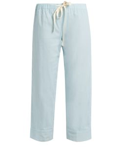 LOUP CHARMANT | Drawstring-Waist Cropped Cotton Trousers