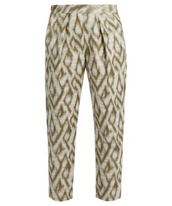 Raquel Allegra | Abstract-Jacquard Cotton-Blend Trousers