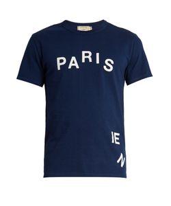 Maison Kitsune   Parisien-Print Cotton-Jersey T-Shirt