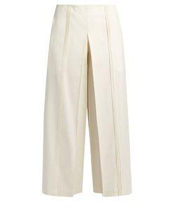 ZEUS + DIONE | Pleiads Wide-Leg Raw-Silk Trousers
