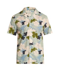 Éditions M.R | Hibiscus-Print Brushed-Cotton Shirt