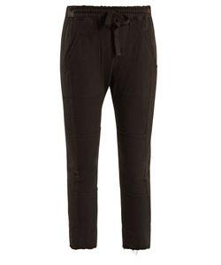 Haider Ackermann | Drawstring-Waist Cotton Cropped Trousers