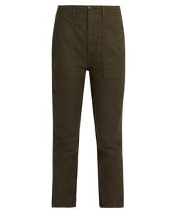 THE GREAT | The Slouch Armies Cropped Trousers