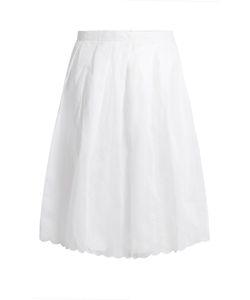 Jupe By Jackie   Spano Scalloped-Hem Cotton Midi Skirt