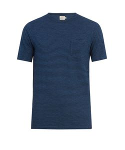 Faherty | Patch-Pocket Striped Cotton T-Shirt