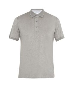 Brioni | Contrast-Collar Cotton-Jersey Polo Shirt