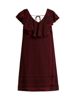 CECILIE COPENHAGEN | V-Back Scarf-Jacquard Cotton Dress