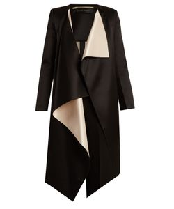 Roland Mouret | Studham Draped-Front Double-Faced Satin Jacket