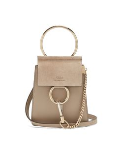Chloe | Faye Mini Suede And Leather Cross-Body Bag