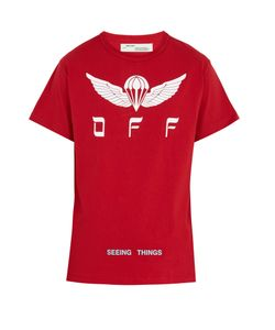 OFF-WHITE | Parachute-Print Cotton T-Shirt