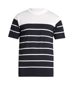 Acne | Naples Contrast-Yoke Cotton T-Shirt