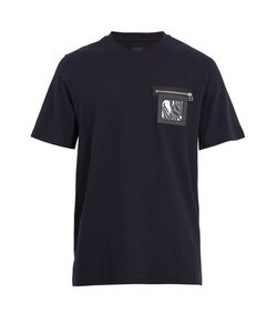 OAMC | Window Leather-Trimmed Jersey T-Shirt