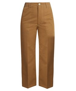 Golden Goose | Contrast-Stitch Wide-Leg Trousers