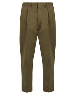 The GIGI | Tonga Slim-Fit Cropped Cotton-Drill Chino Trousers