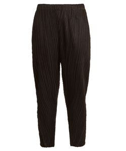 PLEATS PLEASE BY ISSEY MIYAKE | Tapered-Leg Pleated Cropped Trousers
