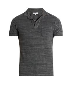 Orlebar Brown   Cotton Terry-Towelling Polo Shirt