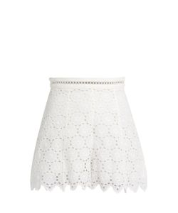 Zimmermann | Divinity Wheel Broderie-Anglaise Shorts