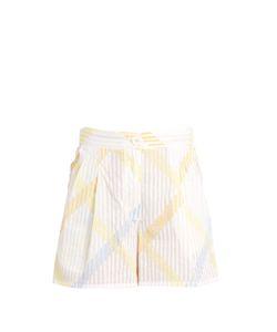 Thierry Colson | Macha Stripe-Print Cotton-Voile Shorts