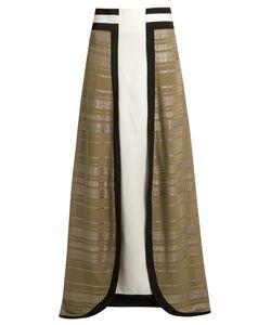 ZEUS + DIONE | Lotus Geometric-Jacquard Panelled Silk Skirt