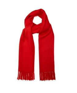 Mulberry | Fringed Wool Scarf