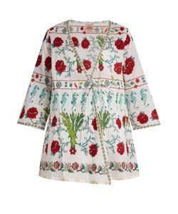 LE SIRENUSE, POSITANO | Garden-Print Cotton Kimono Top
