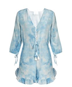 Athena Procopiou | In The Stars Silk Playsuit