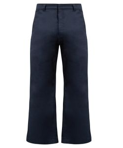 MARTINE ROSE | High-Rise Kick-Flare Cotton Trousers
