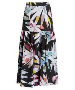 Mara Hoffman   Xylophone Print Gathered Linen Skirt