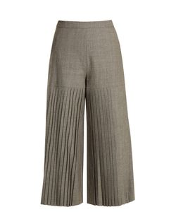 OSMAN | Madie Pleated Wool Culottes