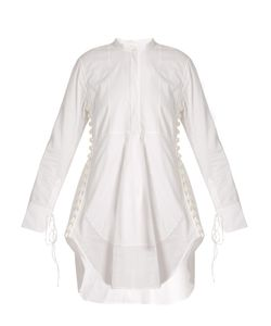 Chloe | Granddad-Collar Cotton-Voile Dress