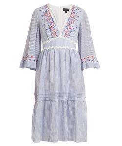 Saloni   June Striped Seersucker Dress