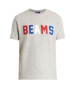 Champion x Beams | Logo-Print Cotton-Blend T-Shirt