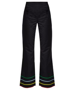 ANNA OCTOBER | Ric-Rac Trimmed Fla Trousers